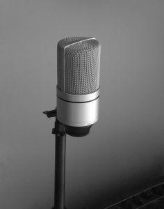 Microfone - narração em áudio